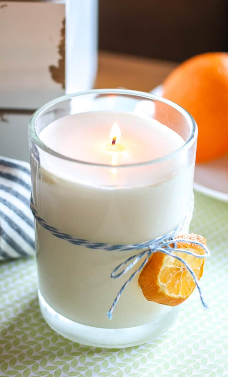 DIY hand poured Soy Candle