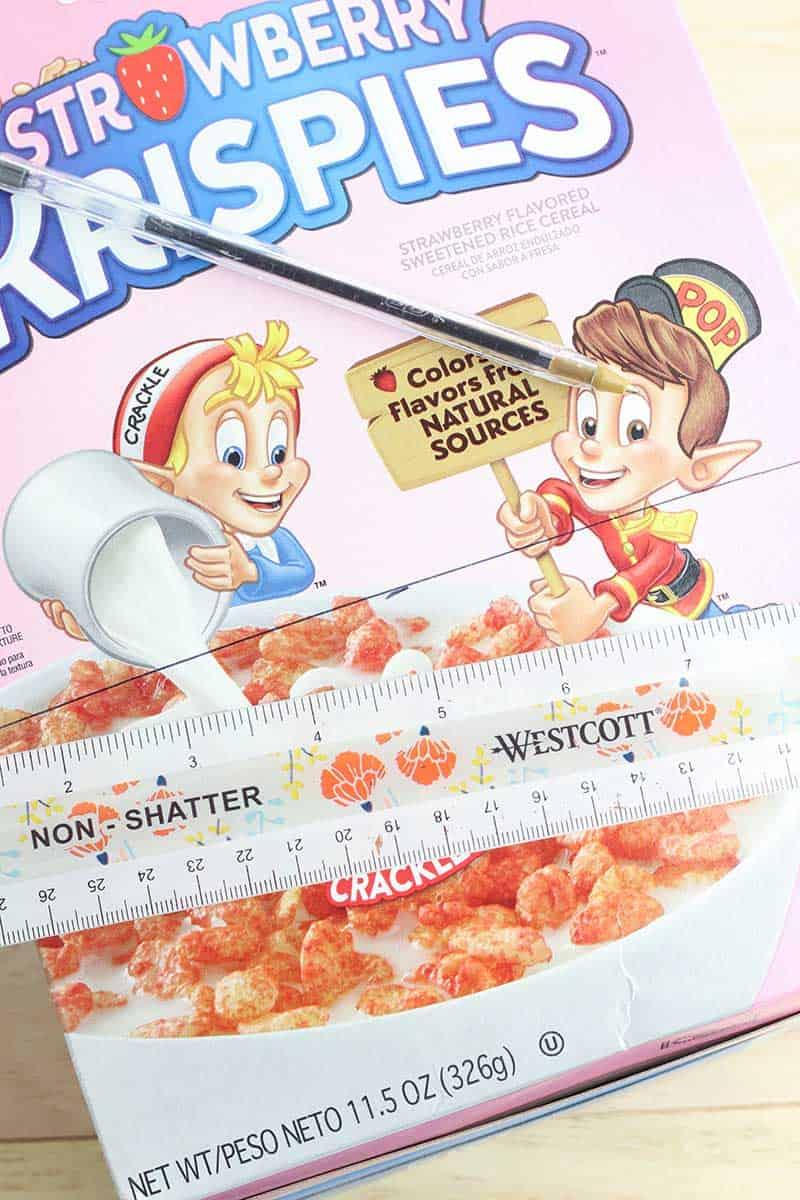 Cereal Box Organizer Step 1