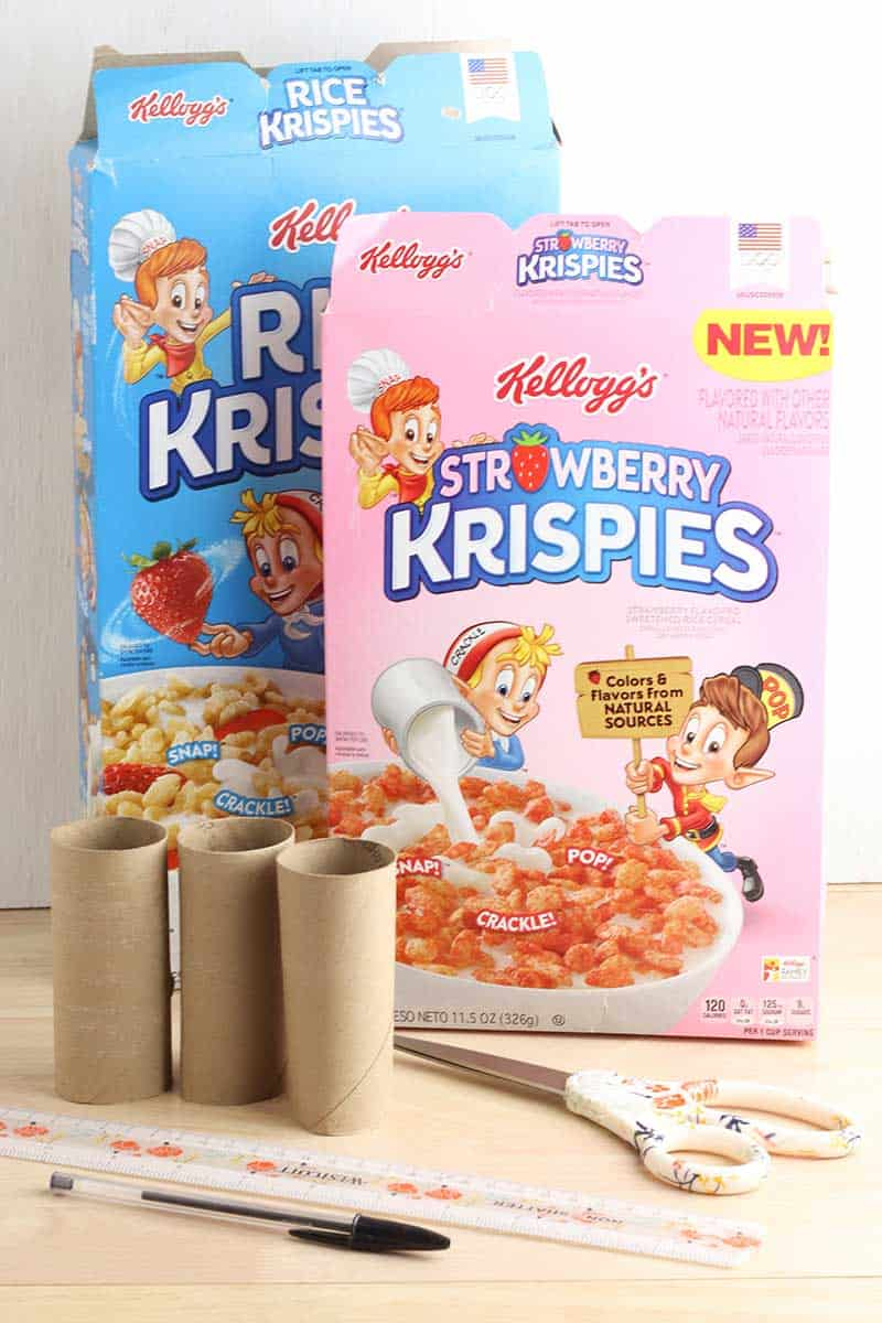 Cereal Box Organizer Supplies