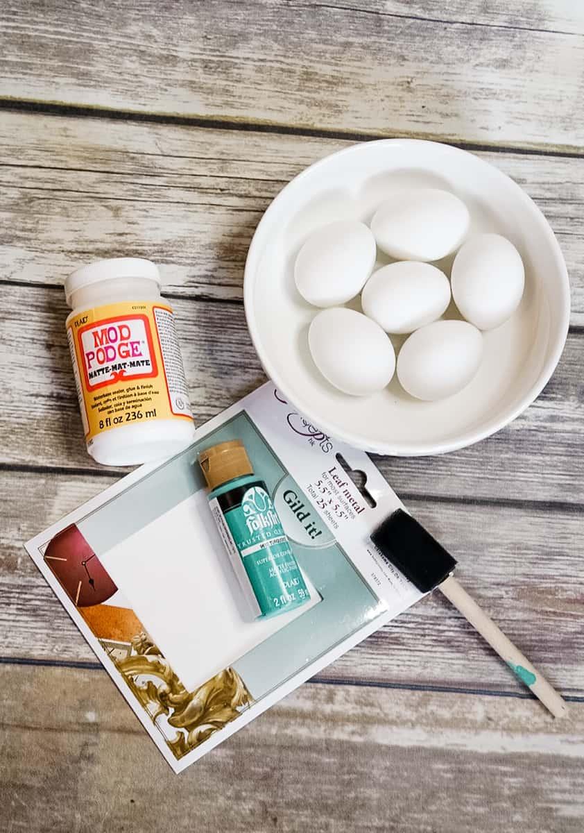 Gilded Easter Egg Supplies