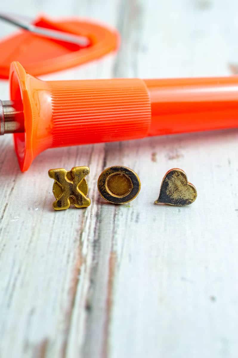Jenga Block Keychain letters and heart shape