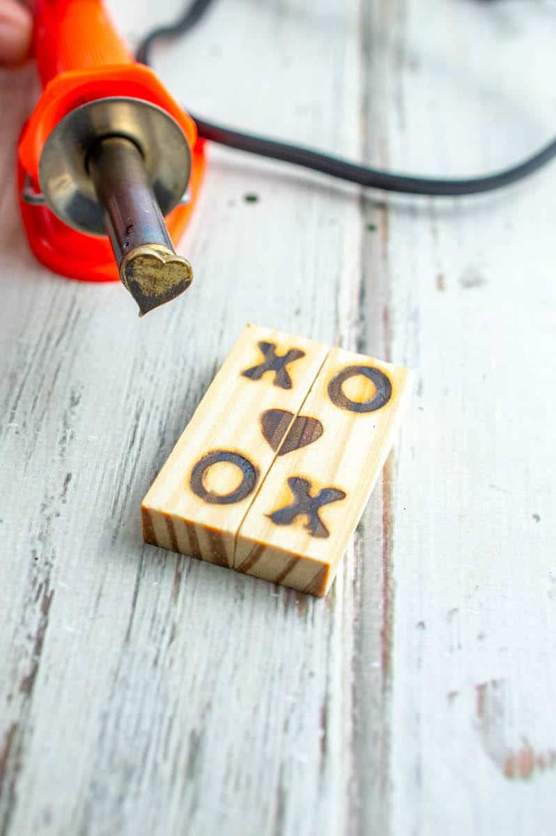 Jenga Block Keychain letters burned