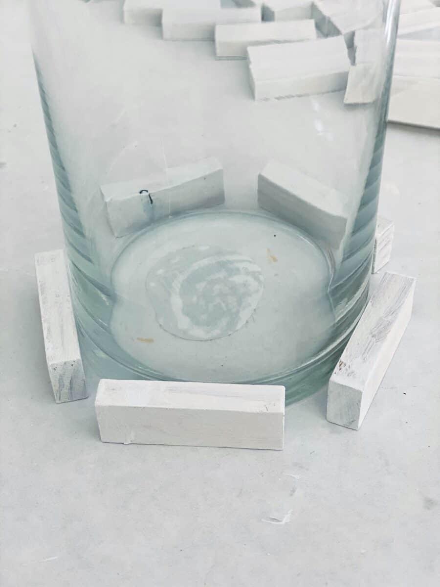 Jenga blocks DIY candle holder Step 2A