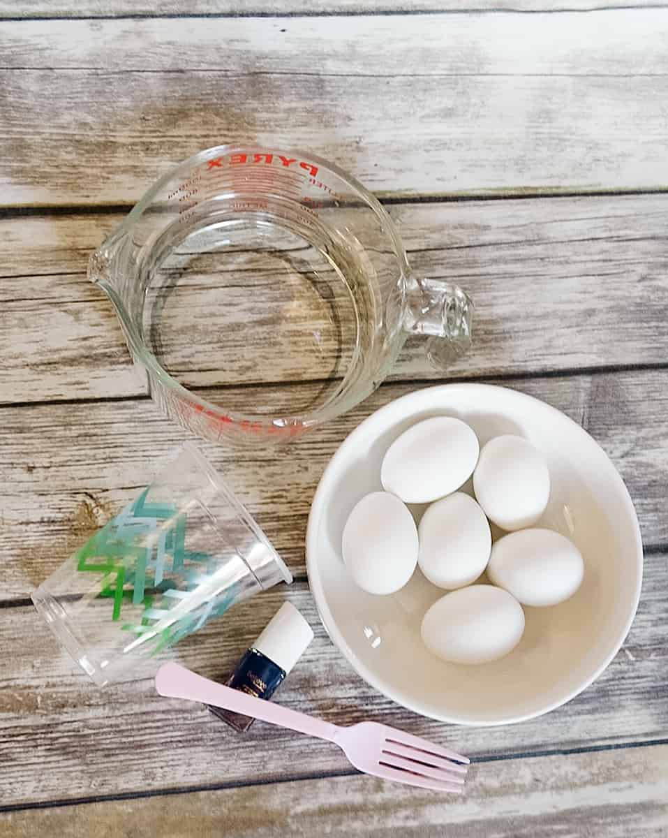 nail polish easter eggs supplies