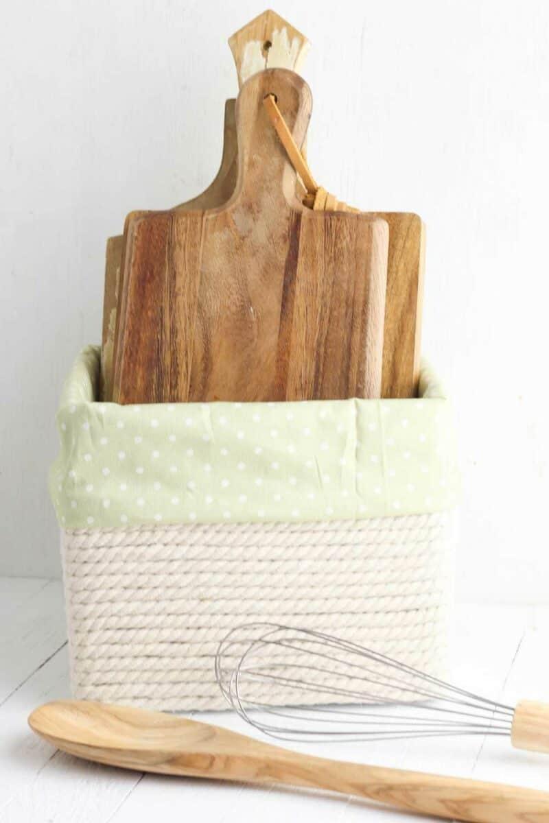 DIY Decorative Storage Box with cutting board