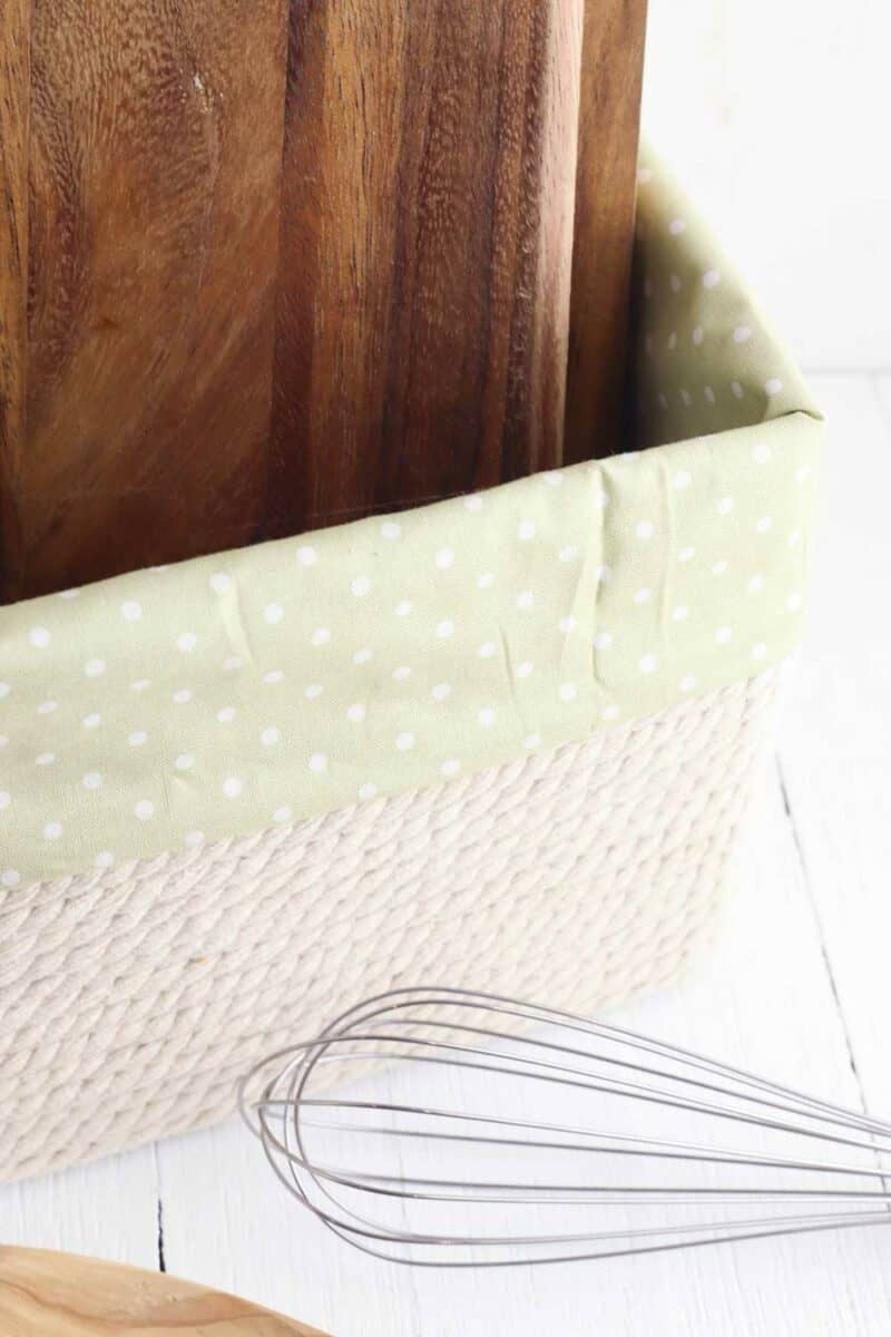DIY Decorative Storage Box Close Up