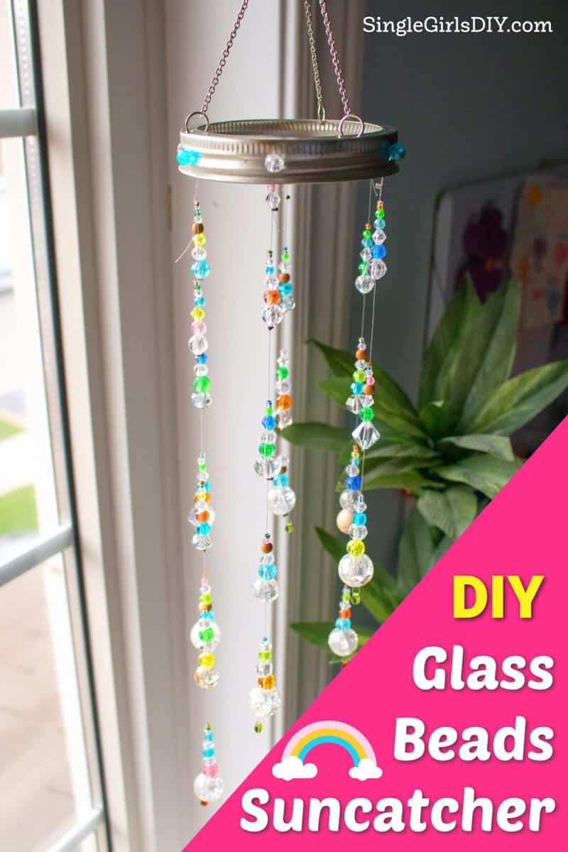 hanging sun catcher made from glass beads
