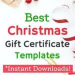 DIY Christmas Gift Certificates