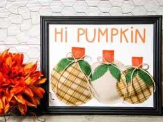 DIY 3D hi pumpkin sign