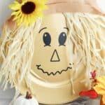 diy scarecrow decoration with fall decor