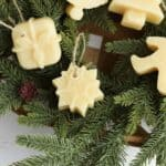 handmade Christmas ornaments made from beeswax